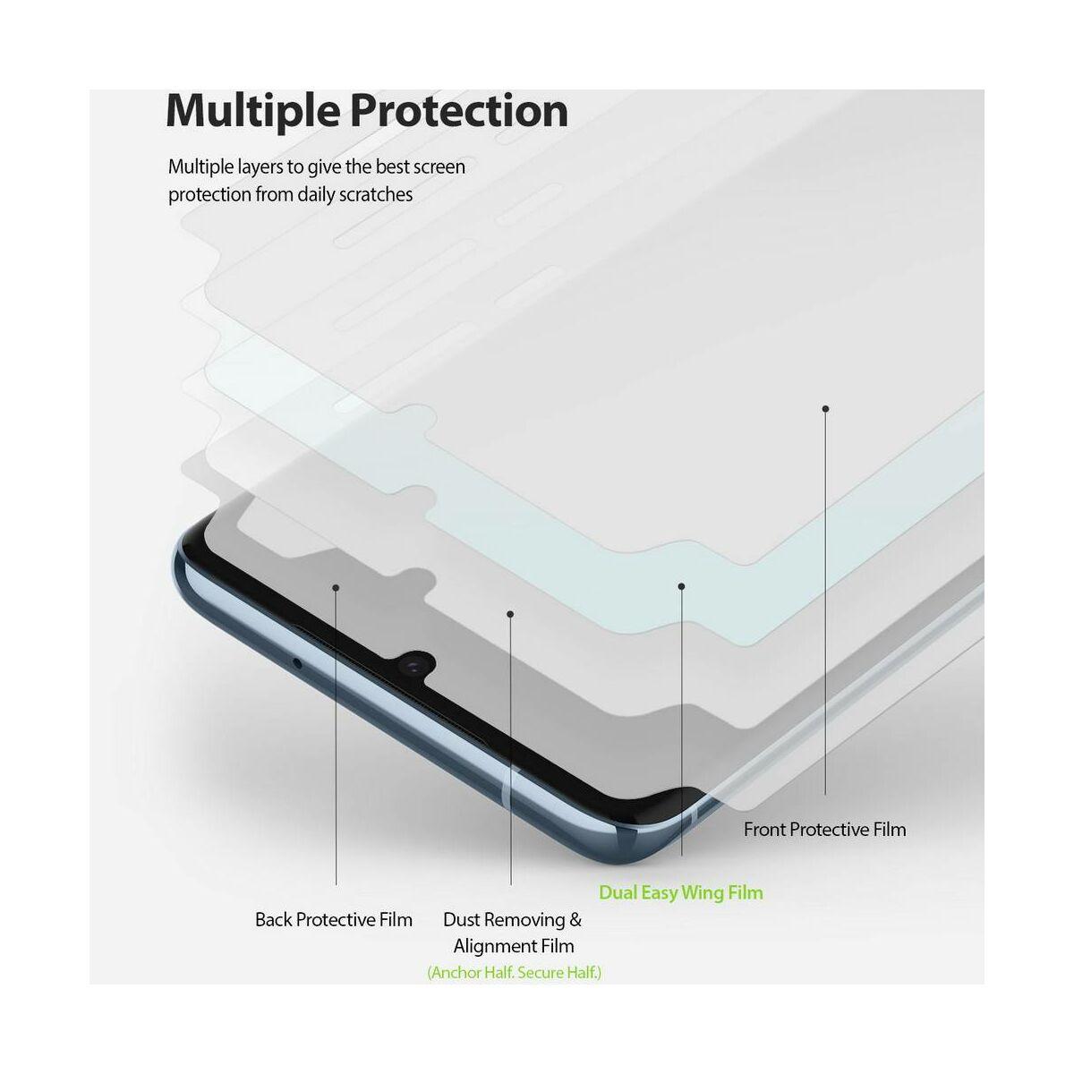 Ringke Samsung Galaxy S20 kijelzővédő üveg, átlátszó