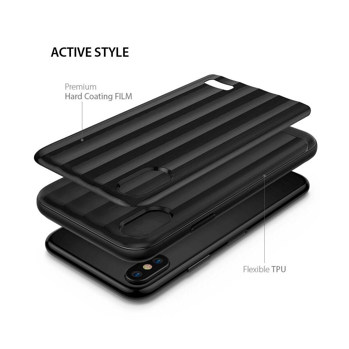 Ringke iPhone X/XS tok, Flex S Pro Titanium, fekete