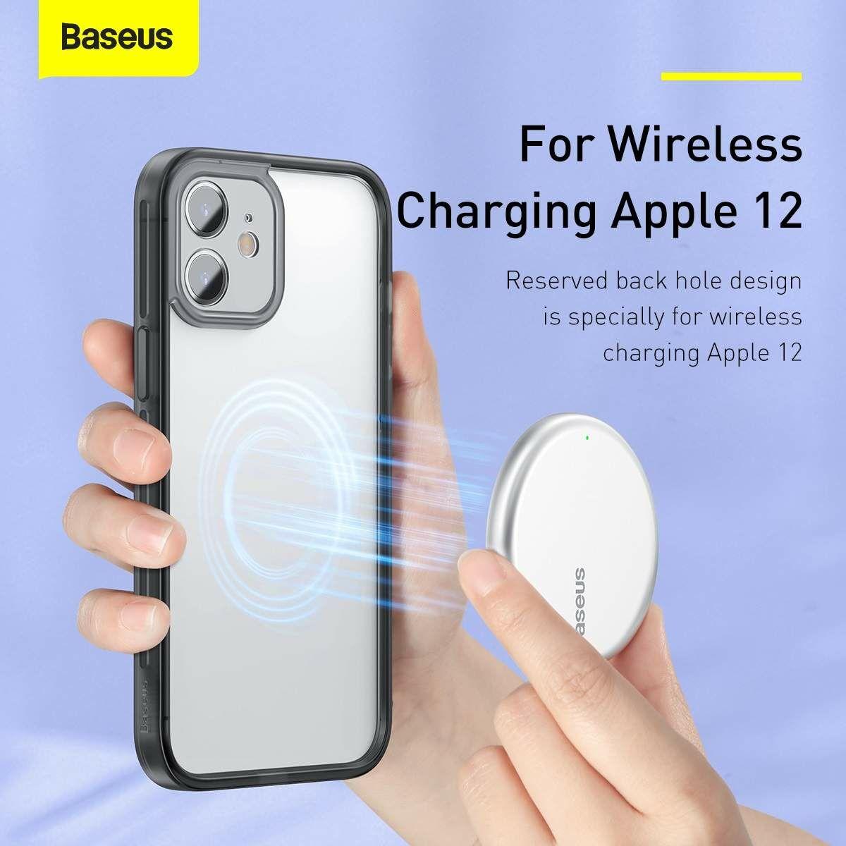 Baseus iPhone 12 mini Kamera lencsevédő kerettel tok, fekete (FRAPIPH54N-01)