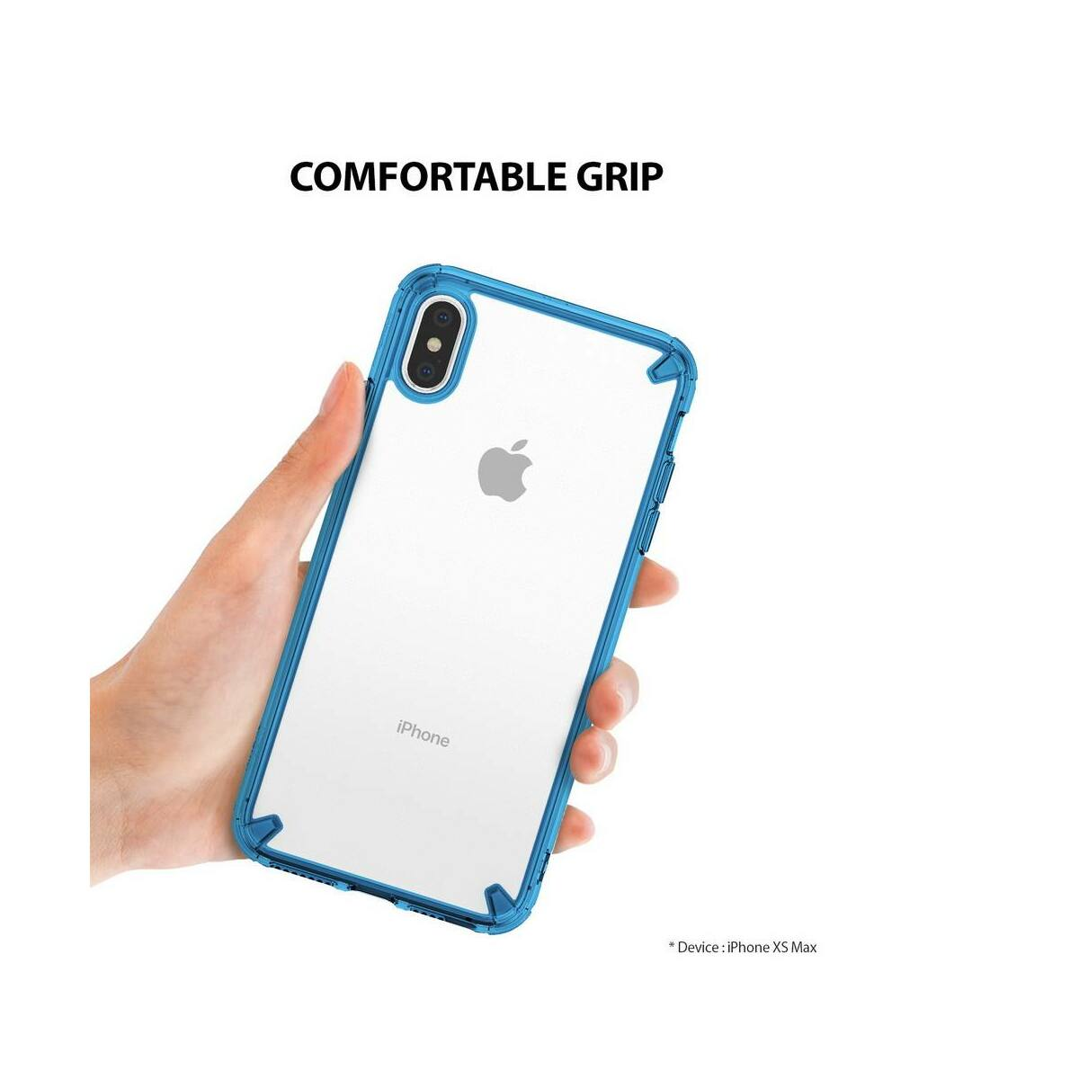 Ringke iPhone XS Max tok, Fusion, kék