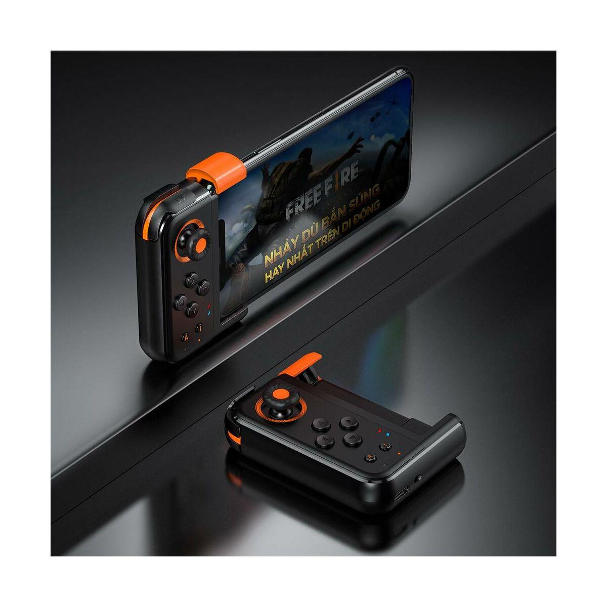 Baseus játék eszköz, GAMO egykezes vezérlő mobil játékokhoz, fekete (GMGA05-01)
