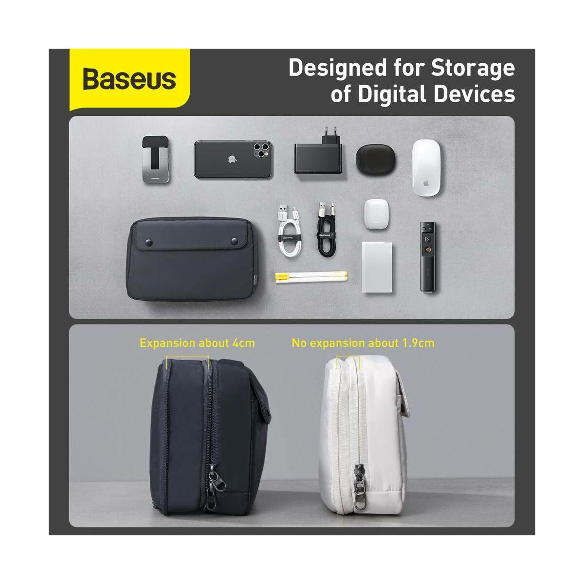Baseus kézi táska, Track series Extra Digital tároló (225 x 140 x 55 mm), szürke (LBGD-0G)