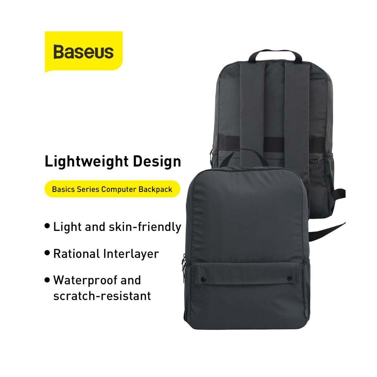 Baseus kézi táska, Basic Series, Laptop tartó hátizsák, (16 inch, 300 x 416 x 110 mm) szürke (LBJN-F0G)