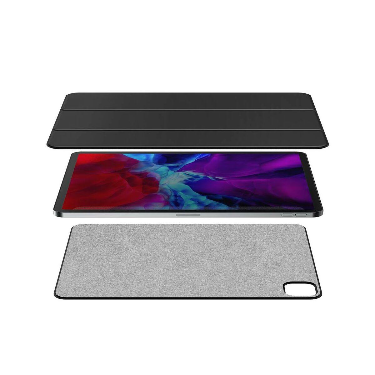 "Baseus iPad Pro 11"" tok, Simplism mágneses bőr tok, fekete (LTAPIPD-ESM01)"