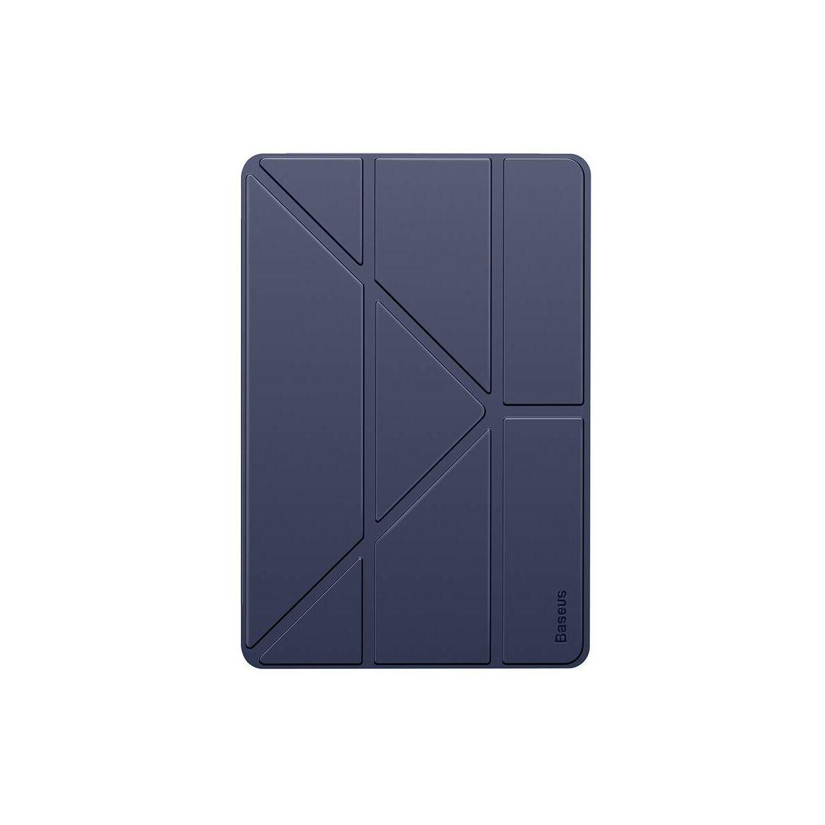 "Baseus iPad 10.2"" tok, Jane Y-Type bőr, smart bőr kijelzővédő tok, kék (LTAPIPD-G03)"