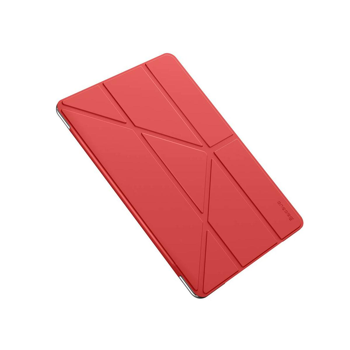 "Baseus iPad 10.2"" tok, Jane Y-Type bőr, smart bőr kijelzővédő tok, piros (LTAPIPD-G09)"