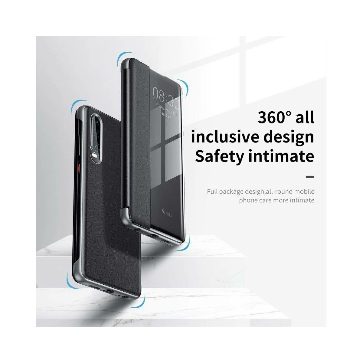 Baseus Huawei P30 tok, Original Intelligent Window kihajtható, flip tok, fekete (LTHWP30-YP01)