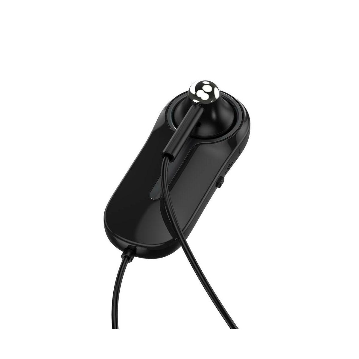 Baseus Headset Bluetooth, Encok A06, Mono, ruhára csíptethető vezérlővel, fekete (NGA06-01)
