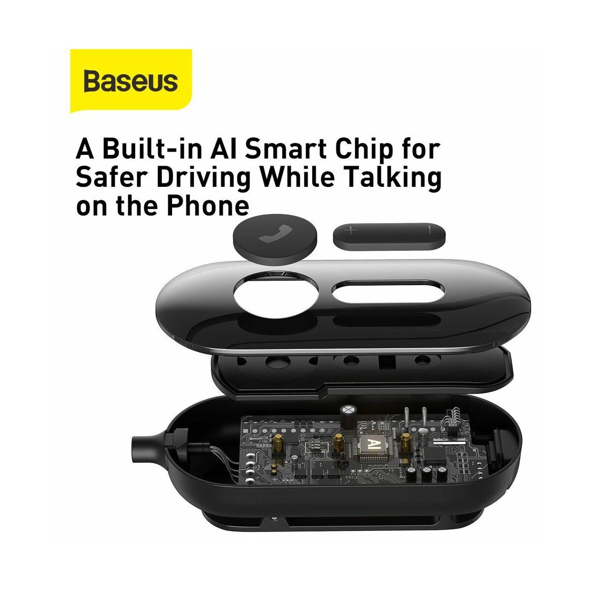 Baseus Headset Bluetooth COVO A10 Mono, ruhára csiptethető vezérlővel, fekete (NGA10-A01