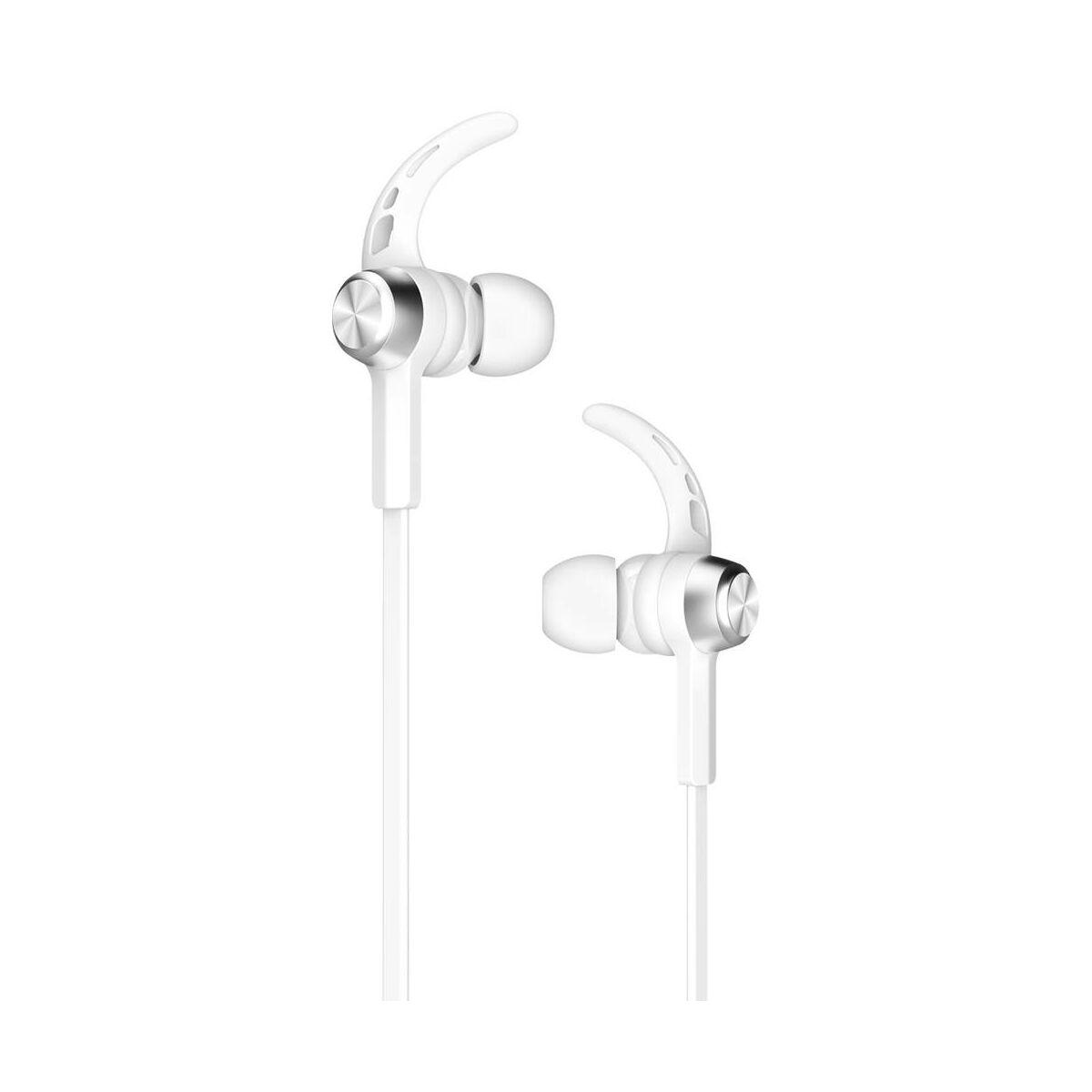 Baseus fülhallgató, Bluetooth Encok B11 Licolor Magnet, vezeték nélküli, ezüst/fehér (NGB11-02)