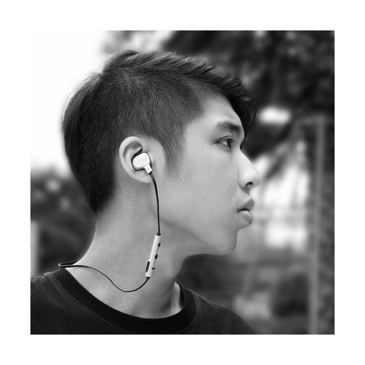 Baseus fülhallgató, Bluetooth Encok B15, Seal sztereó, ezüst/fekete (NGB15-0S)