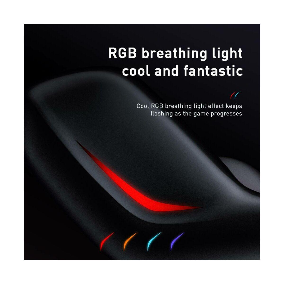 Baseus fülhallgató, GAMO C18 Immersive Virtual 3D mobil játékokhoz, vezetékes, Type-C csatlakozóval, fekete (NGC18-01)