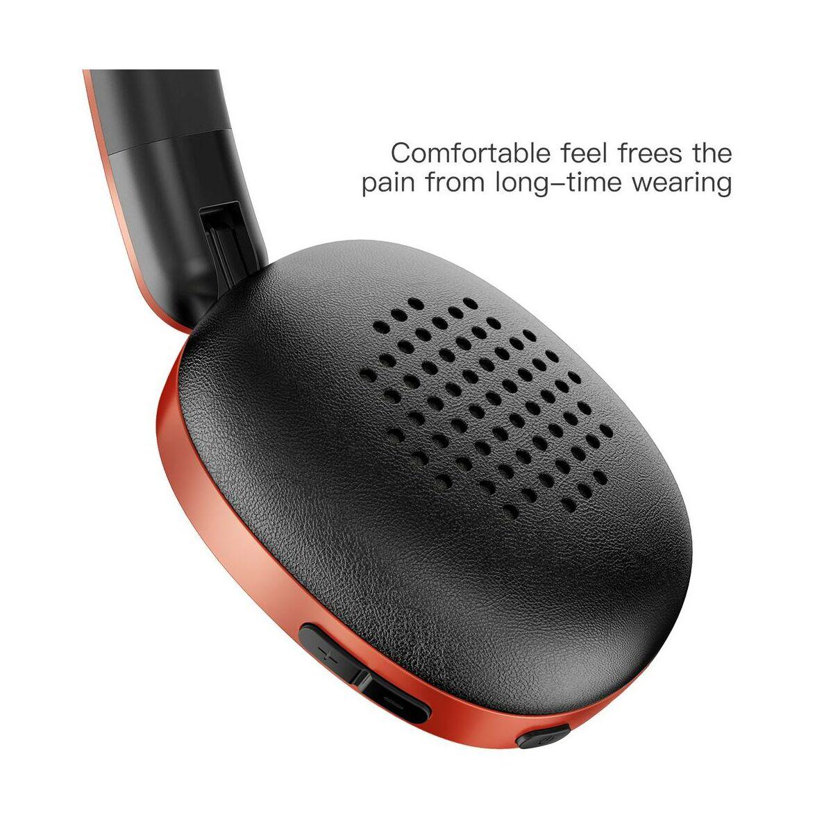 Baseus fejhallgató, Bluetooth Encok D01, vezeték nélküli, piros (NGD01-09)