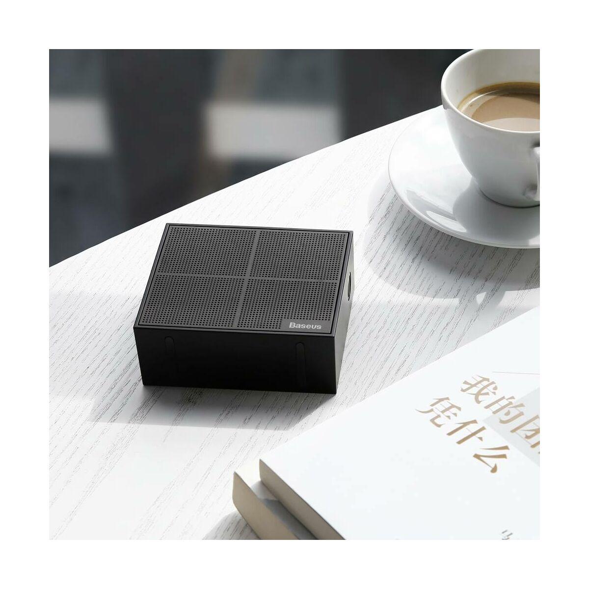 Baseus Hordozható hangszóró, Bluetooth Encok E05, Music-cube, fekete (NGE05-01)