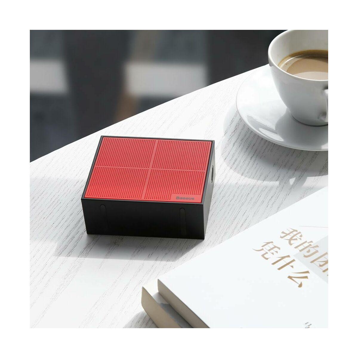Baseus Hordozható hangszóró, Bluetooth Encok E05, Music-cube, piros/fekete (NGE05-91)