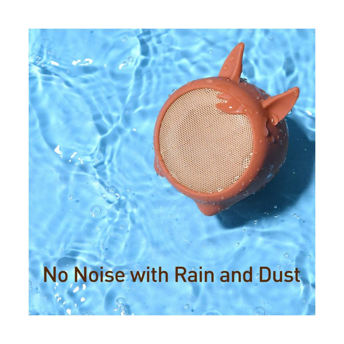 Baseus Hordozható hangszóró Bluetooth Encok E06, 4-5 óra zene hallgatás, 450 mAh,kínai zodiákus ló, barna (NGE06-08)