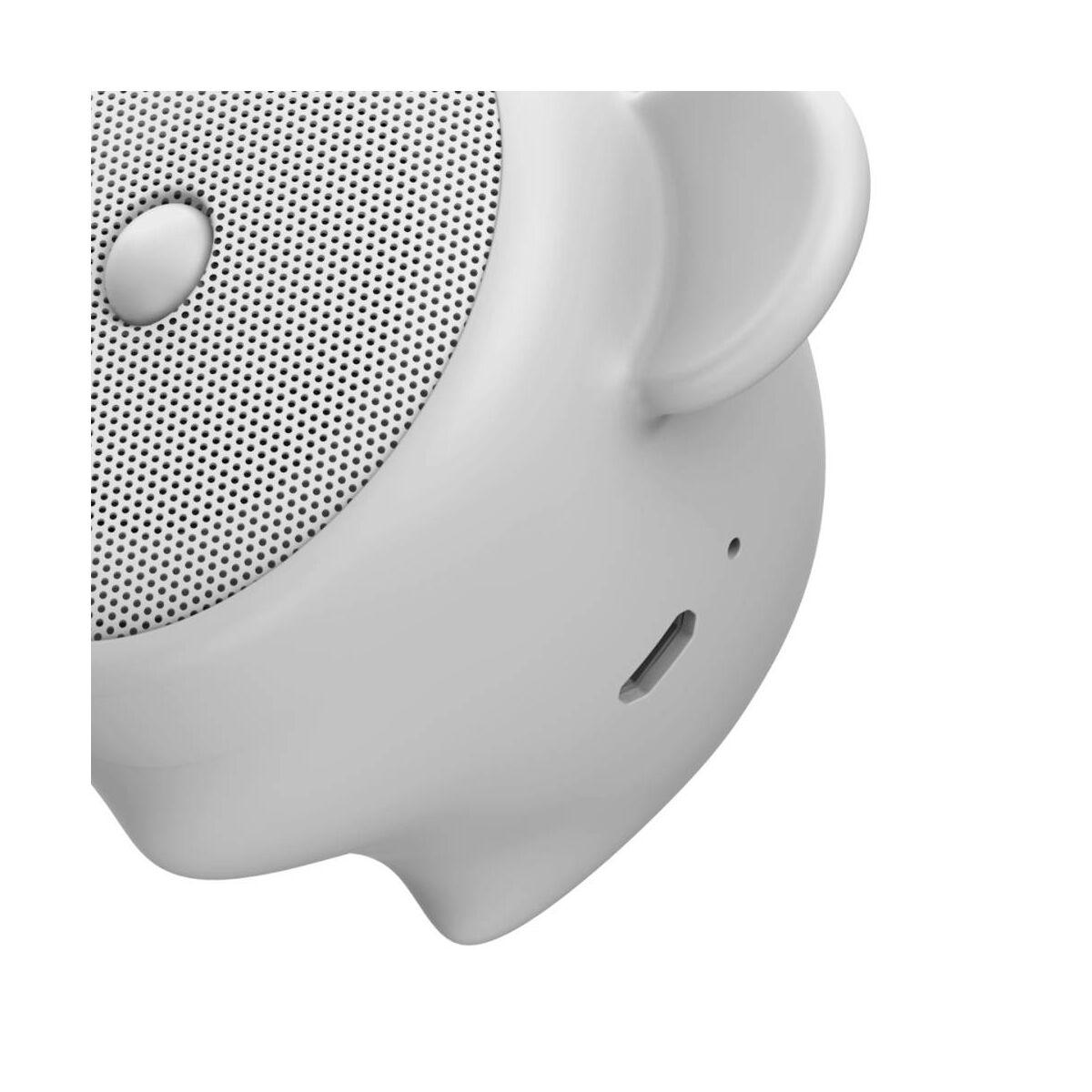Baseus Hordozható hangszóró Bluetooth Encok E06, 4-5 óra zene hallgatás, 450 mAh,kínai zodiákus egér, szürke (NGE06-0G)
