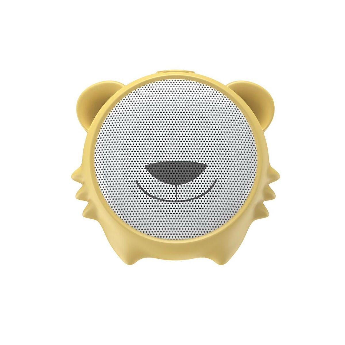 Baseus Hordozható hangszóró Bluetooth Encok E06, 4-5 óra zene hallgatás, 450 mAh,kínai zodiákus tigris, sárga (NGE06-A0Y)