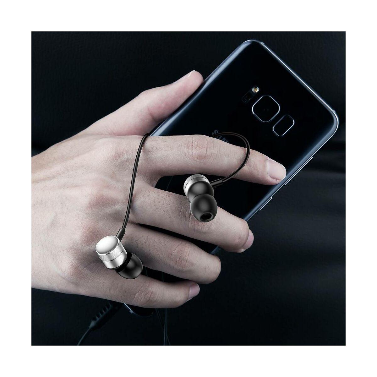 Baseus fülhallgató, Encok H04, mini jack, vezetékes, ezüst (NGH04-0S)