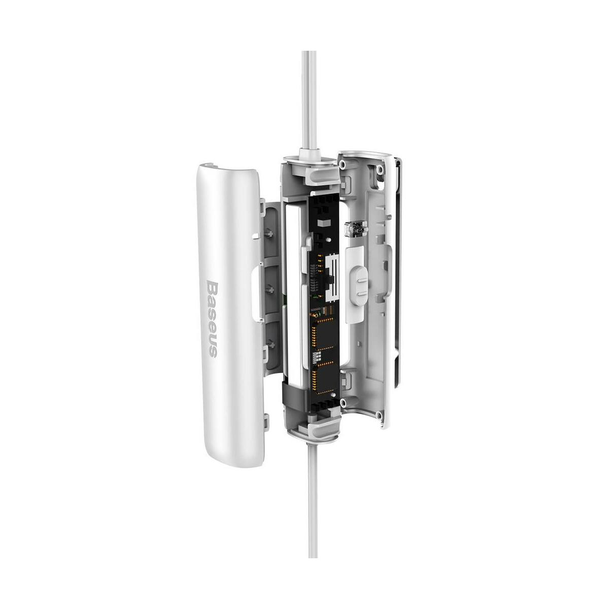 Baseus fülhallgató, Encok H08, Immersive virtual 3D gaming, mini jack, vezetékes, vezérlővel, fehér/szürke (NGH08-2G)