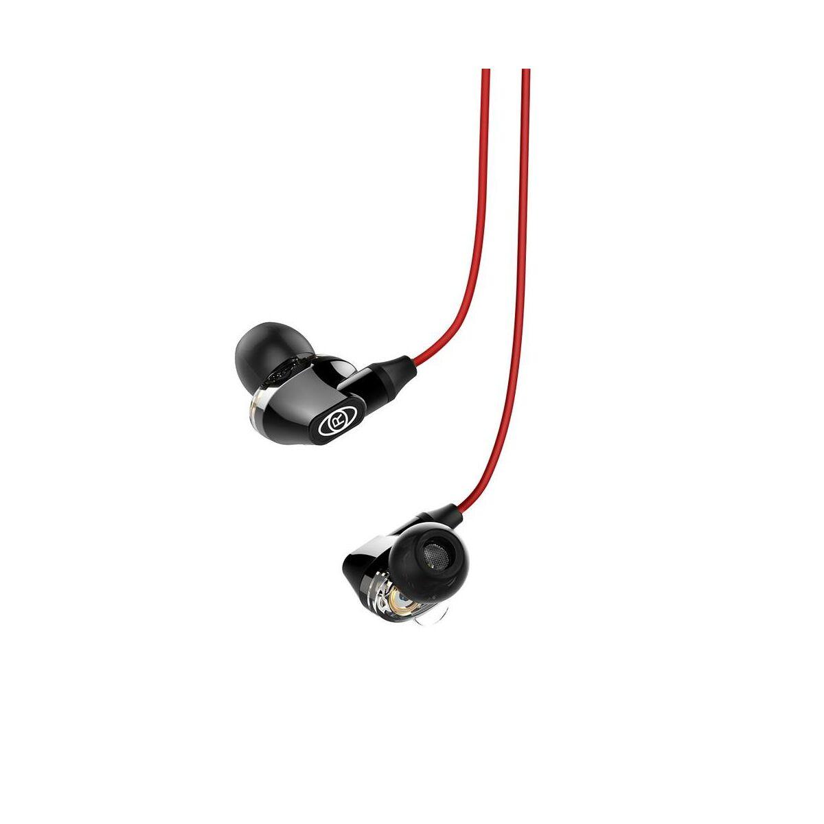 Baseus fülhallgató, Encok H08 Immersive virtual 3D gaming, mini jack, vezetékes, vezérlővel, piros/fekete (NGH08-91)