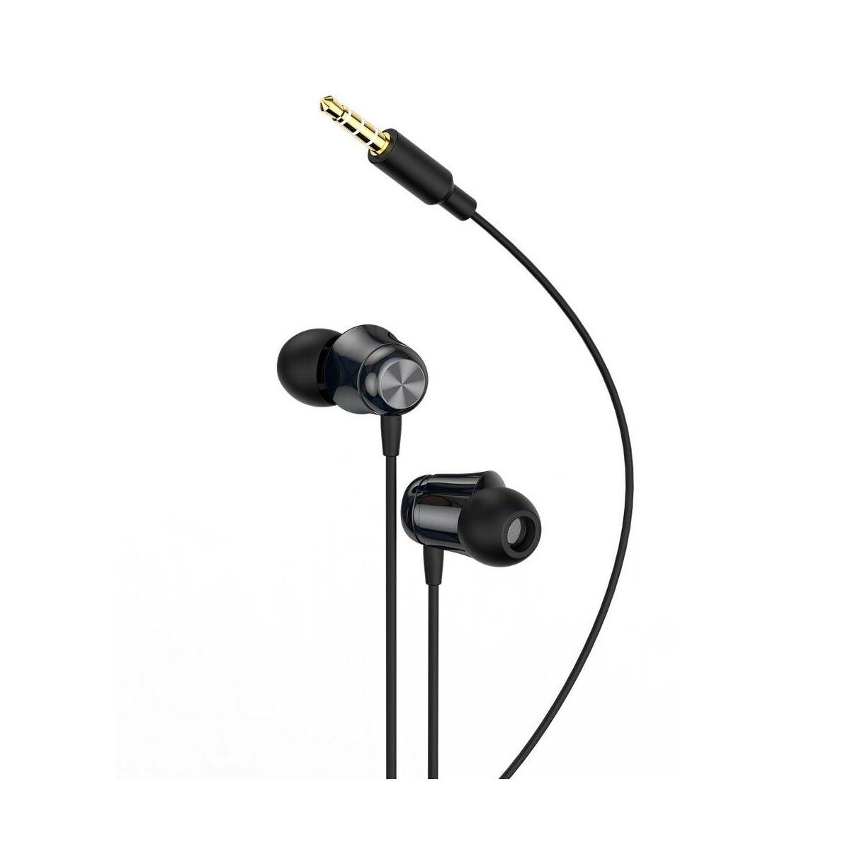 Baseus fülhallgató, Encok H13, vezetékes, vezérlővel, fekete (NGH13-01)