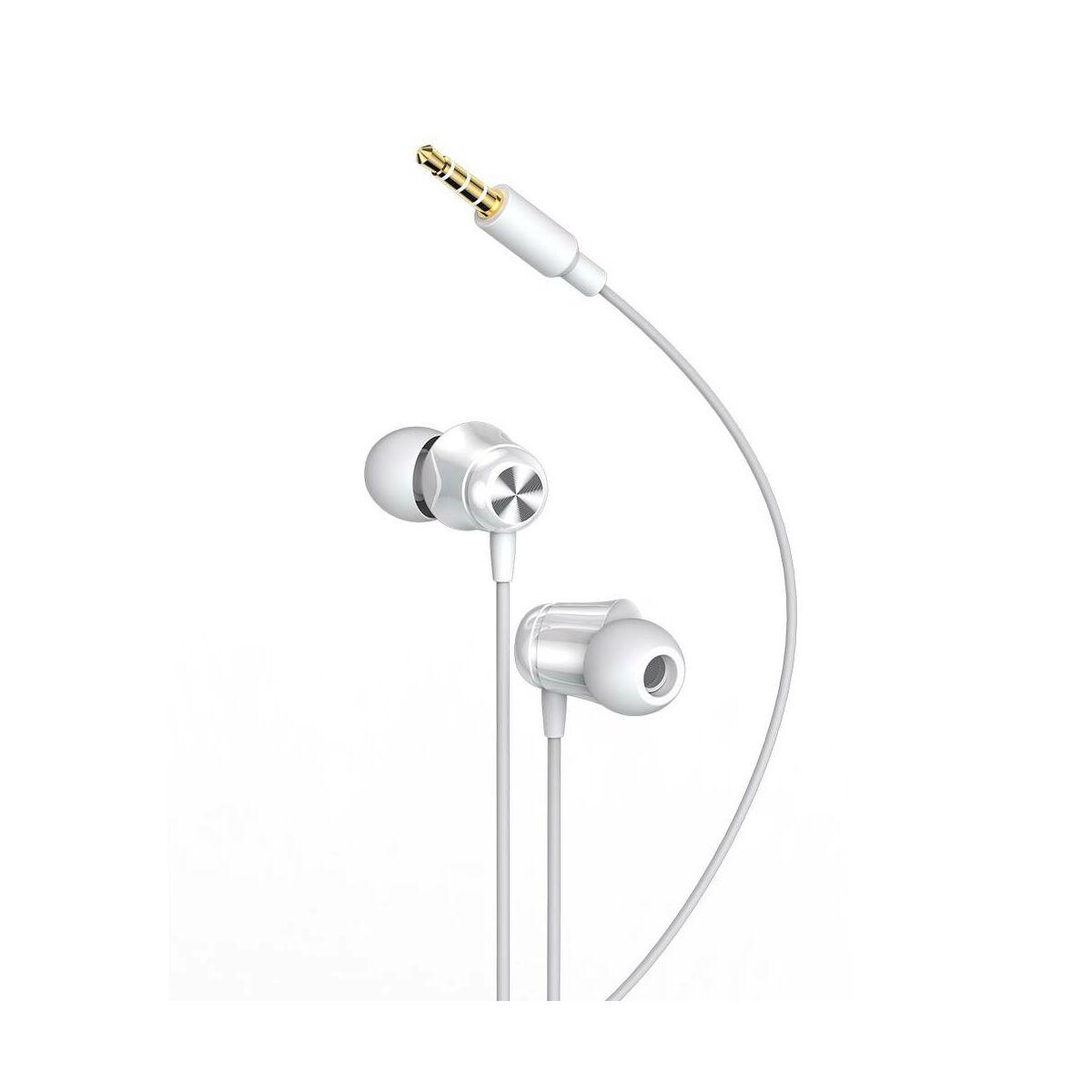 Baseus fülhallgató, Encok H13, vezetékes, vezérlővel, fehér (NGH13-02)