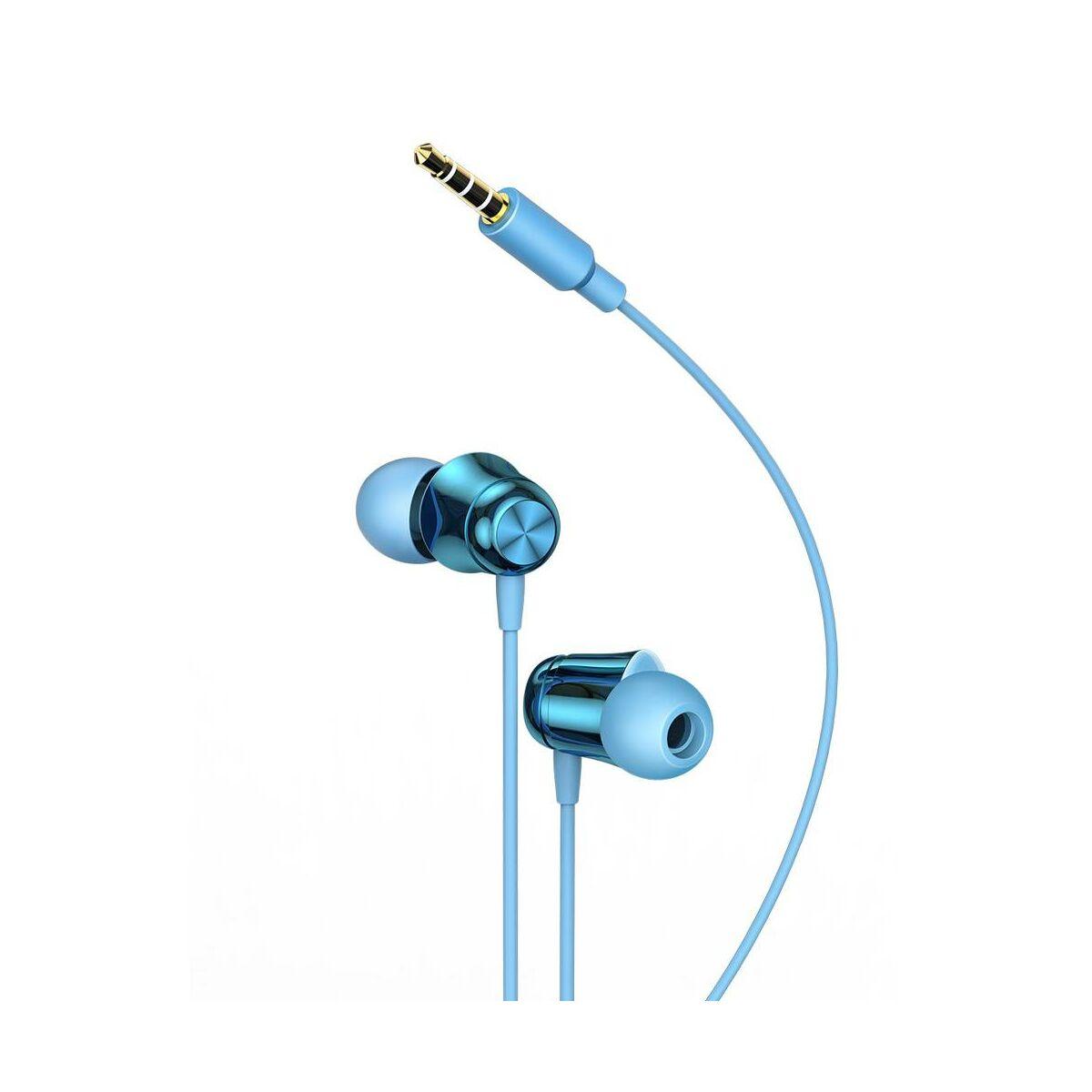Baseus fülhallgató, Encok H13, vezetékes, vezérlővel, kék (NGH13-03)