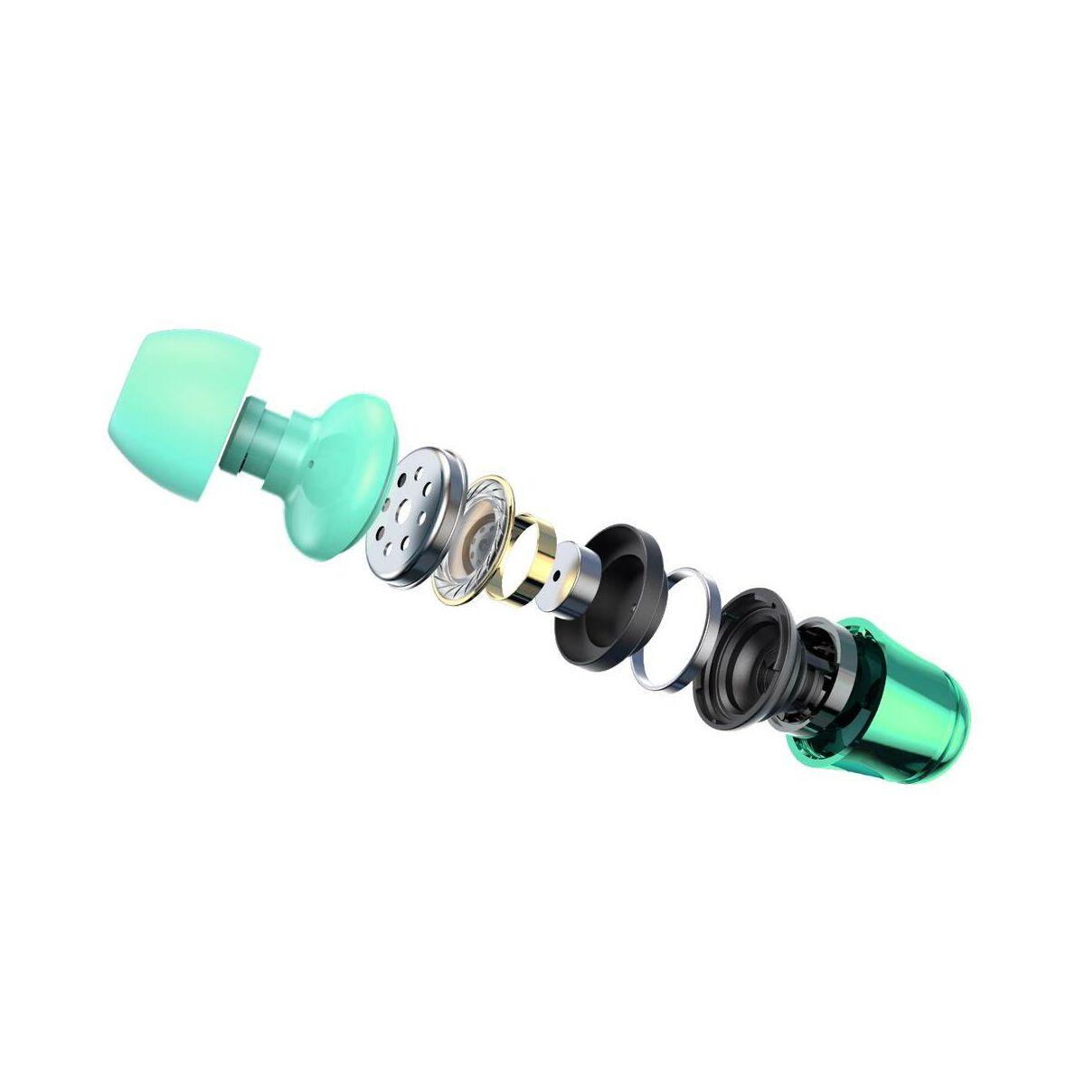 Baseus fülhallgató, Encok H13, vezetékes, vezérlővel, zöld (NGH13-06)