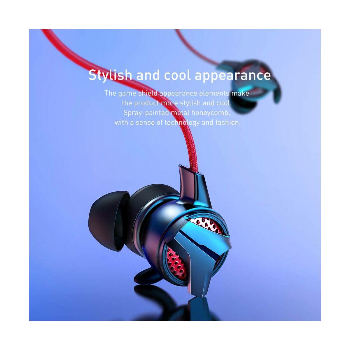 Baseus fülhallgató, GAMO H15, mini jack, vezetékes, vezérlővel, fekete (NGH15-01)