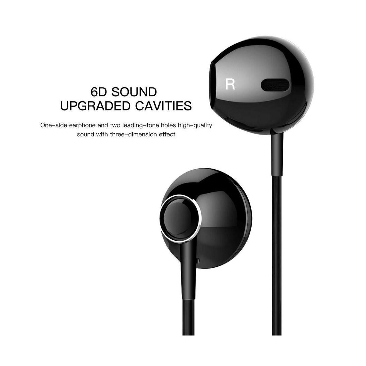 Baseus fülhallgató, Encok P06, Lightning Call Digital, vezetékes, fekete (NGP06-01)