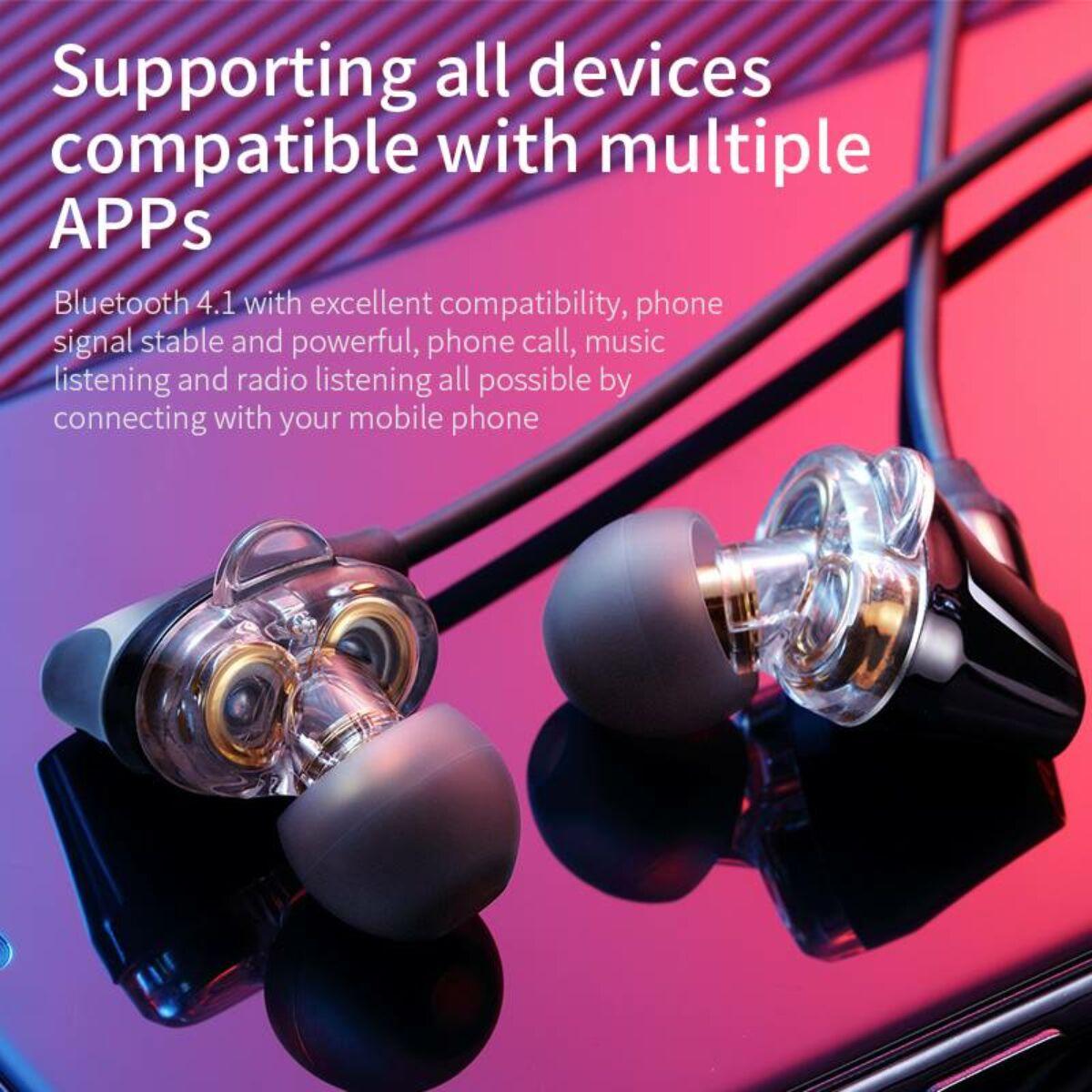 Baseus fülhallgató, Bluetooth Encok S10, Dual Moving-Coil vezeték nélküli headset, vezérlővel, fekete (NGS10-01)