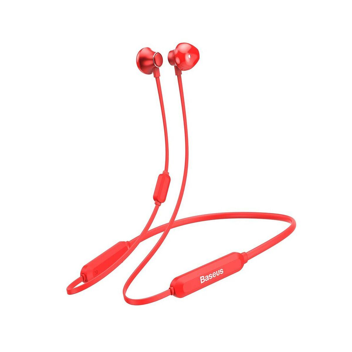Baseus fülhallgató, Bluetooth Encok S11A nyakba akasztós, vezeték nélküli, piros(NGS11A-09)