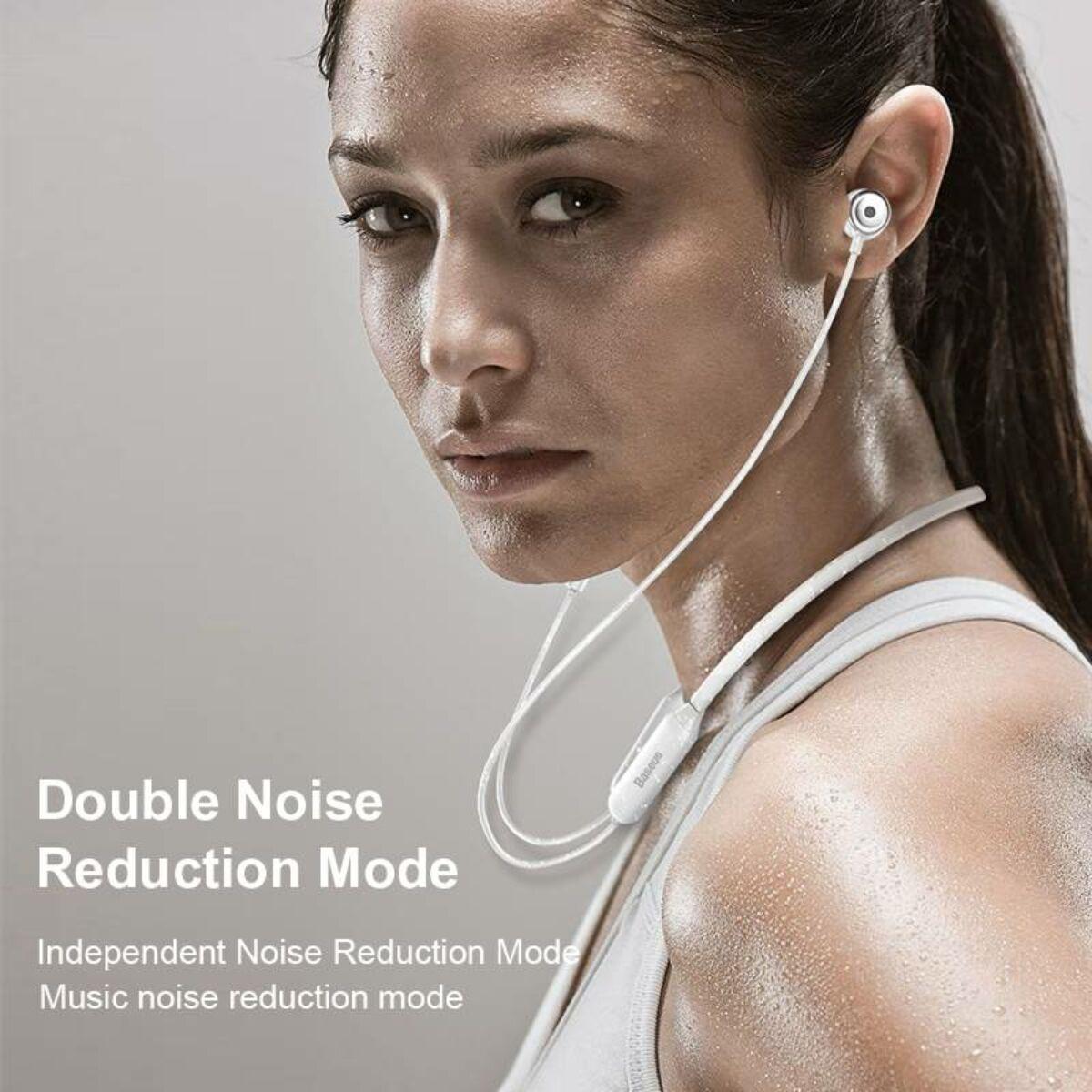 Baseus fülhallgató, Bluetooth SIMU S15, aktív zaj csökkentés, vezeték nélküli, fehér (NGS15-02)
