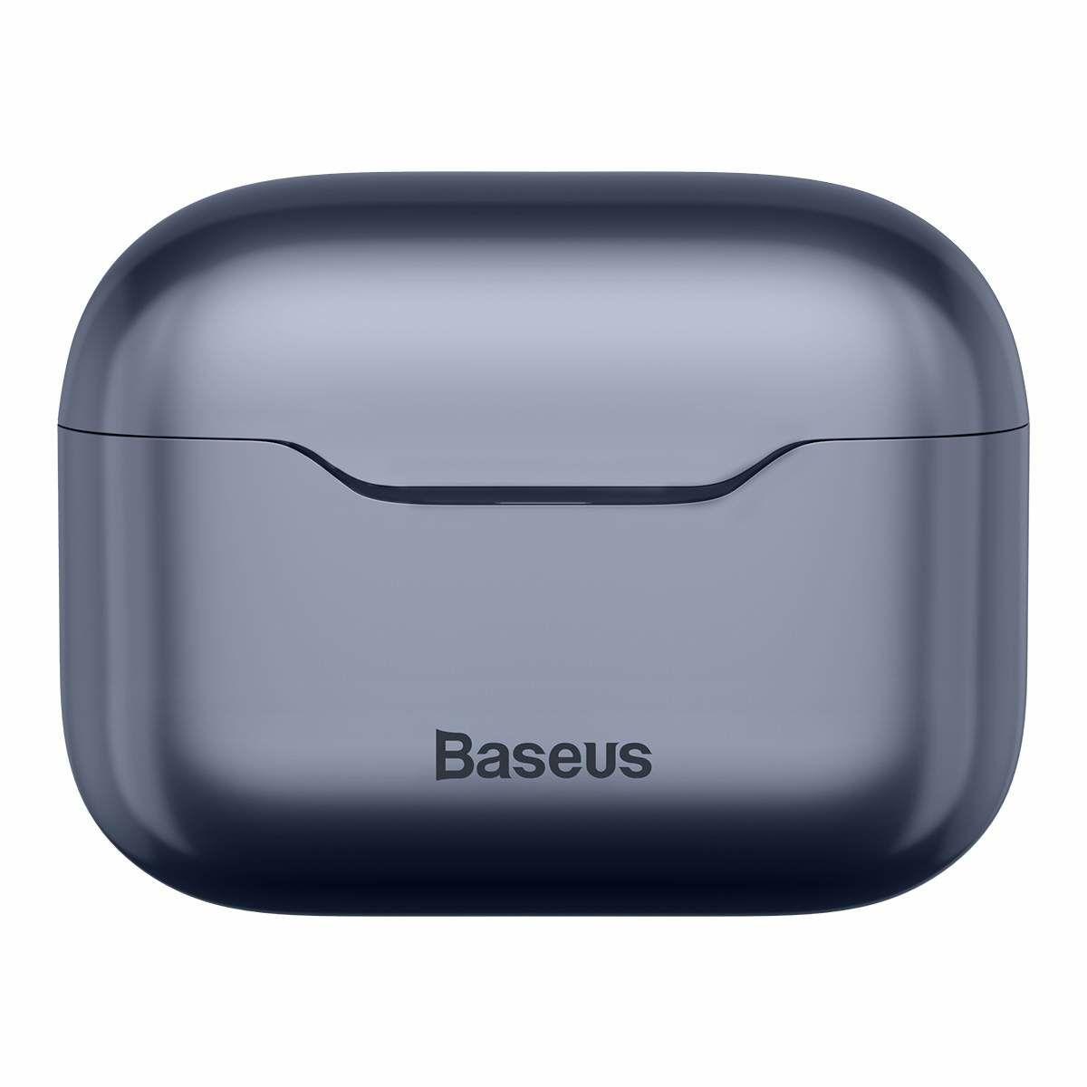 Baseus füllhallgató, Bluetooth SIMU S1 Pro, aktív zaj csökkentés, vezeték nélküli, BT 5.1, 380 mAh töltőtokkal, fekete (NGS1P-0A)