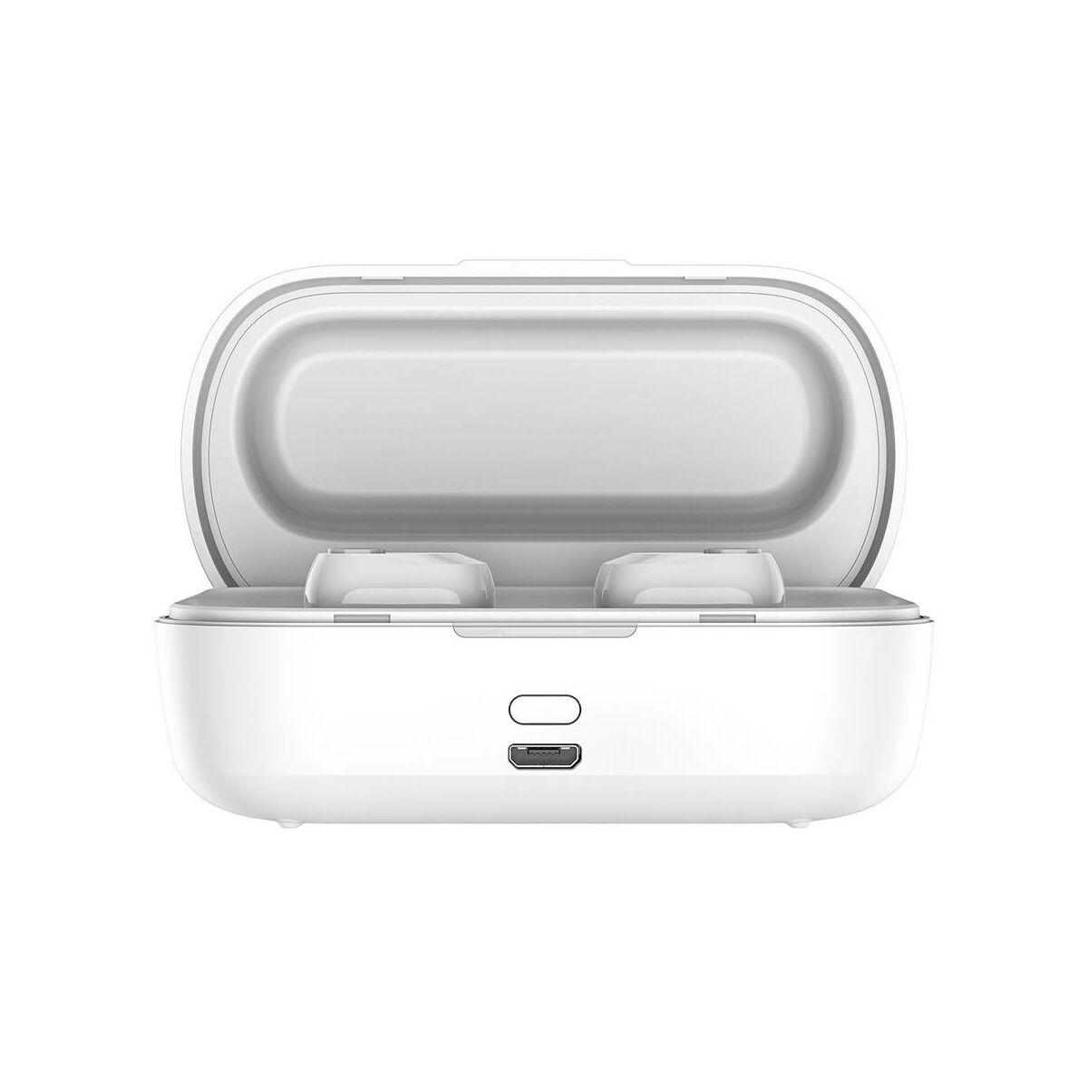 Baseus fülhallgató, Bluetooth Encok W01, vezeték nélküli, fehér (NGW01-02)