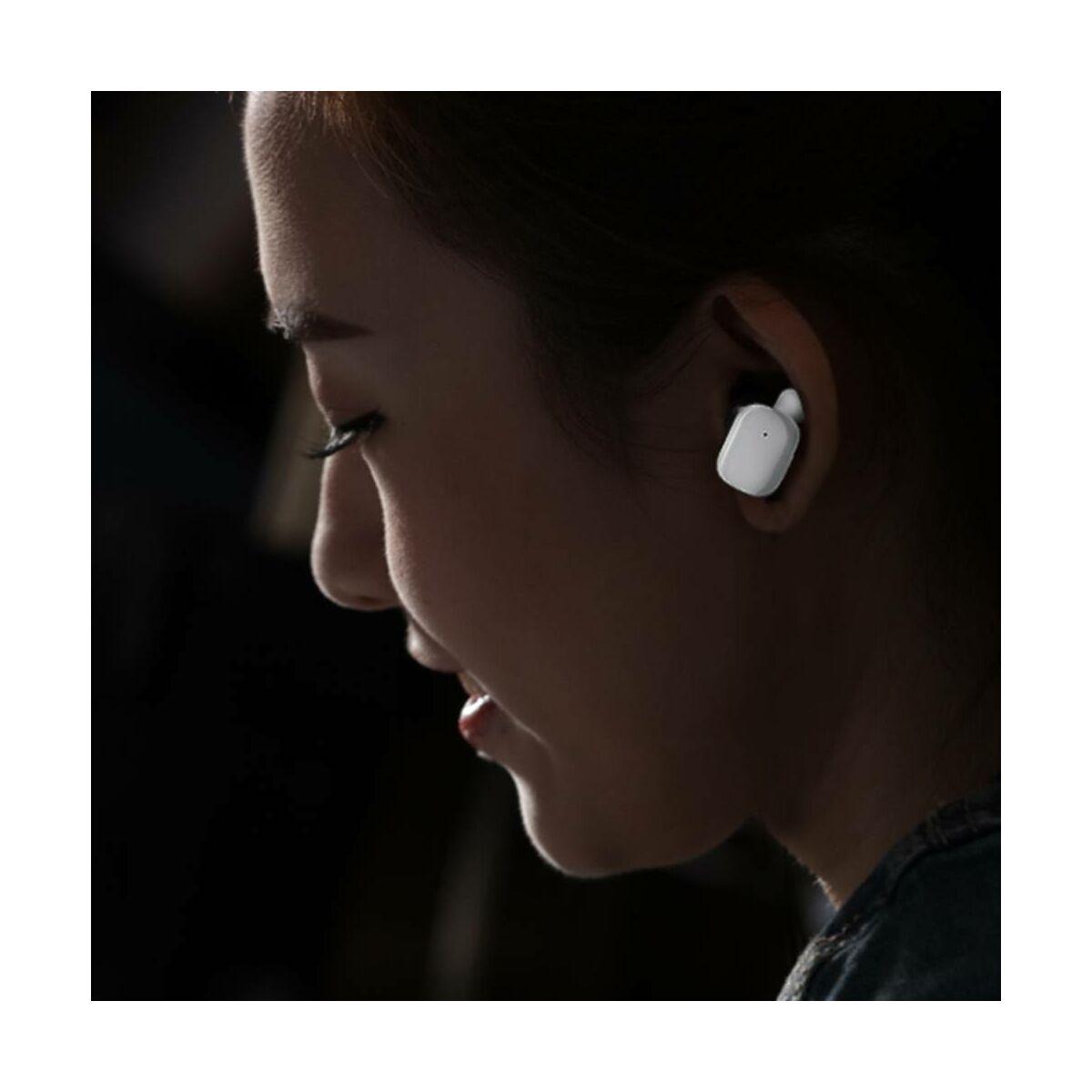 Baseus fülhallgató, Bluetooth Encok W02, Truly Wireless Touch Control, Binaural, zajcsökkentés, HD hang, BT 4.2, fehér (NGW02-02)