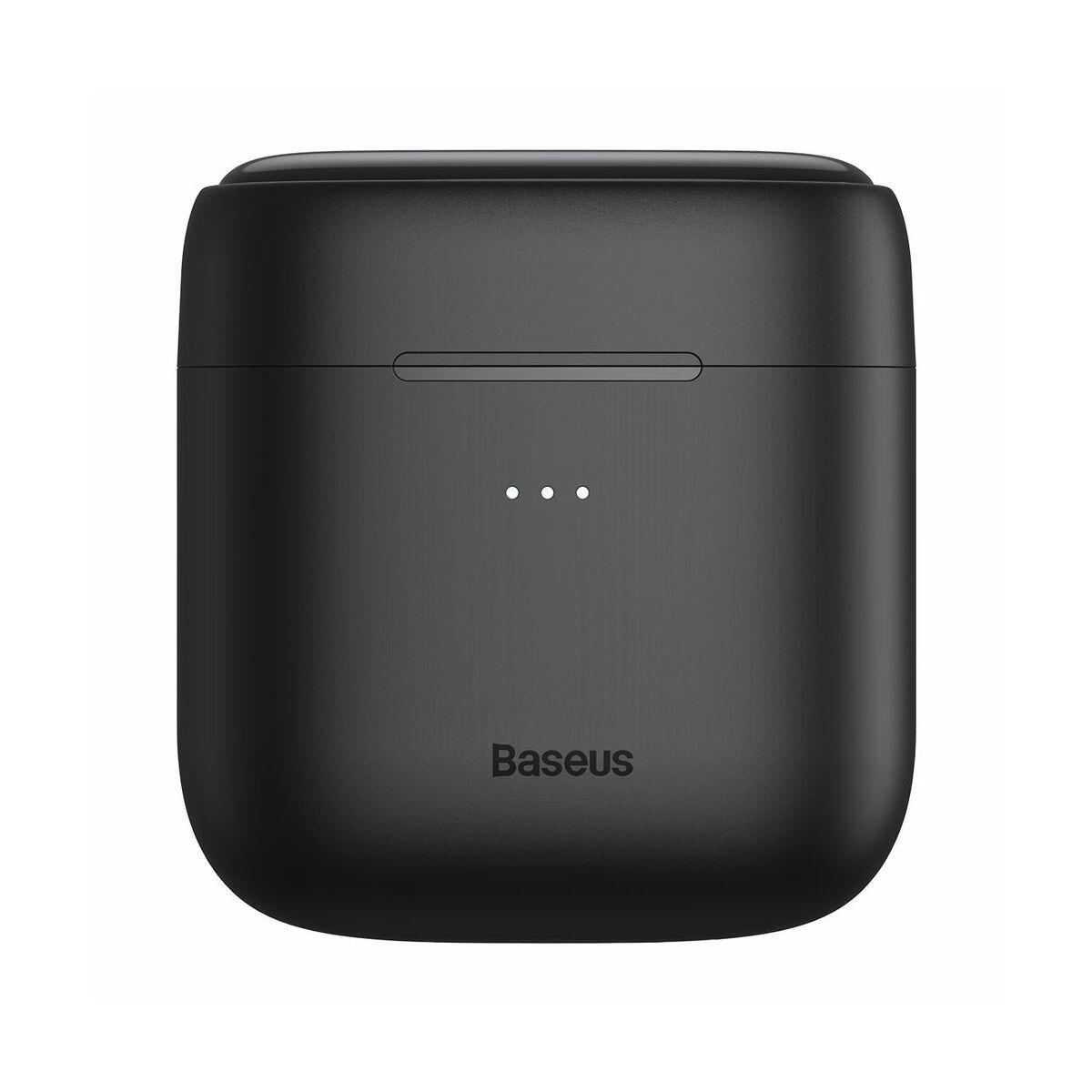 Baseus fülhallgató, Bluetooth Encok W06, True Wireless, vezeték nélküli, BT 5.0 TWS, 5 óra zeneidő, fekete (NGW06-01)