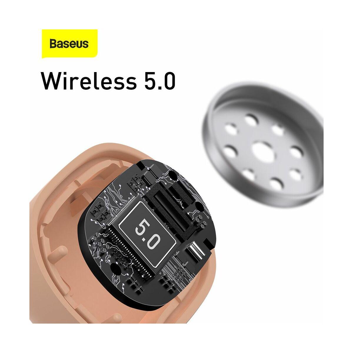 Baseus fülhallgató, Bluetooth Encok W06, True Wireless, vezeték nélküli, BT 5.0 TWS, 5 óra zeneidő, rózsaszín (NGW06-04)