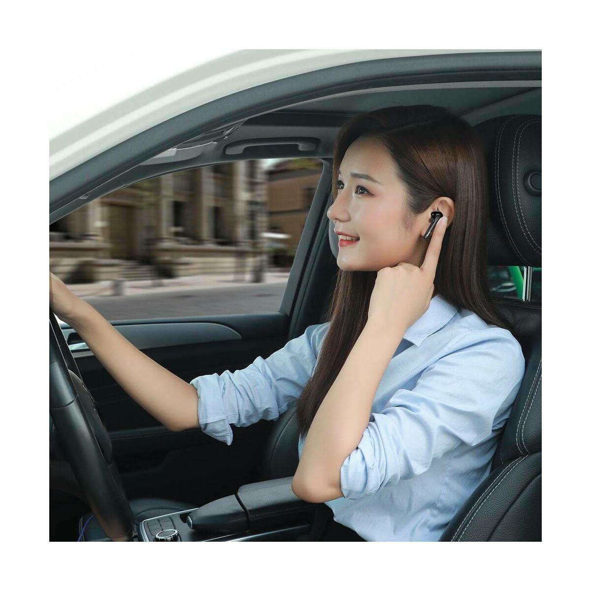 Baseus fülhallgató, Bluetooth Encok W07 True Wireless, vezeték nélküli, dual mikrofon BT 5.0 TWS, fekete (NGW07-01)