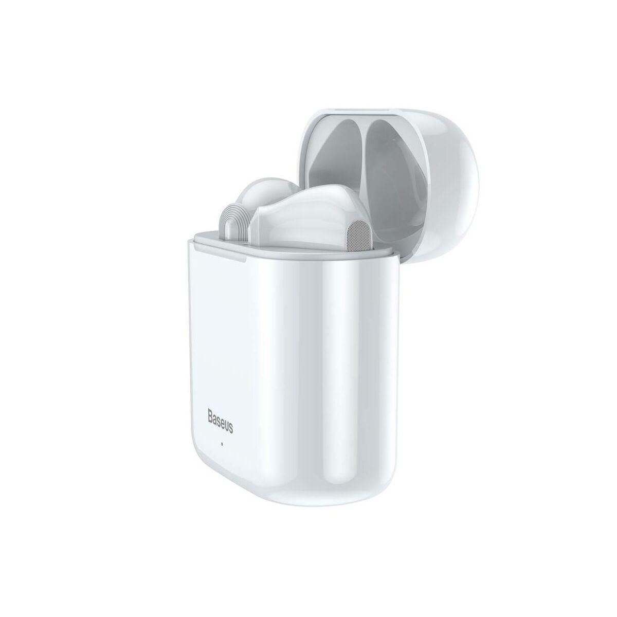 Baseus fülhallgató, Bluetooth Encok W09, True Wireless, vezeték nélküli, BT 5.0 TWS, fehér (NGW09-02)