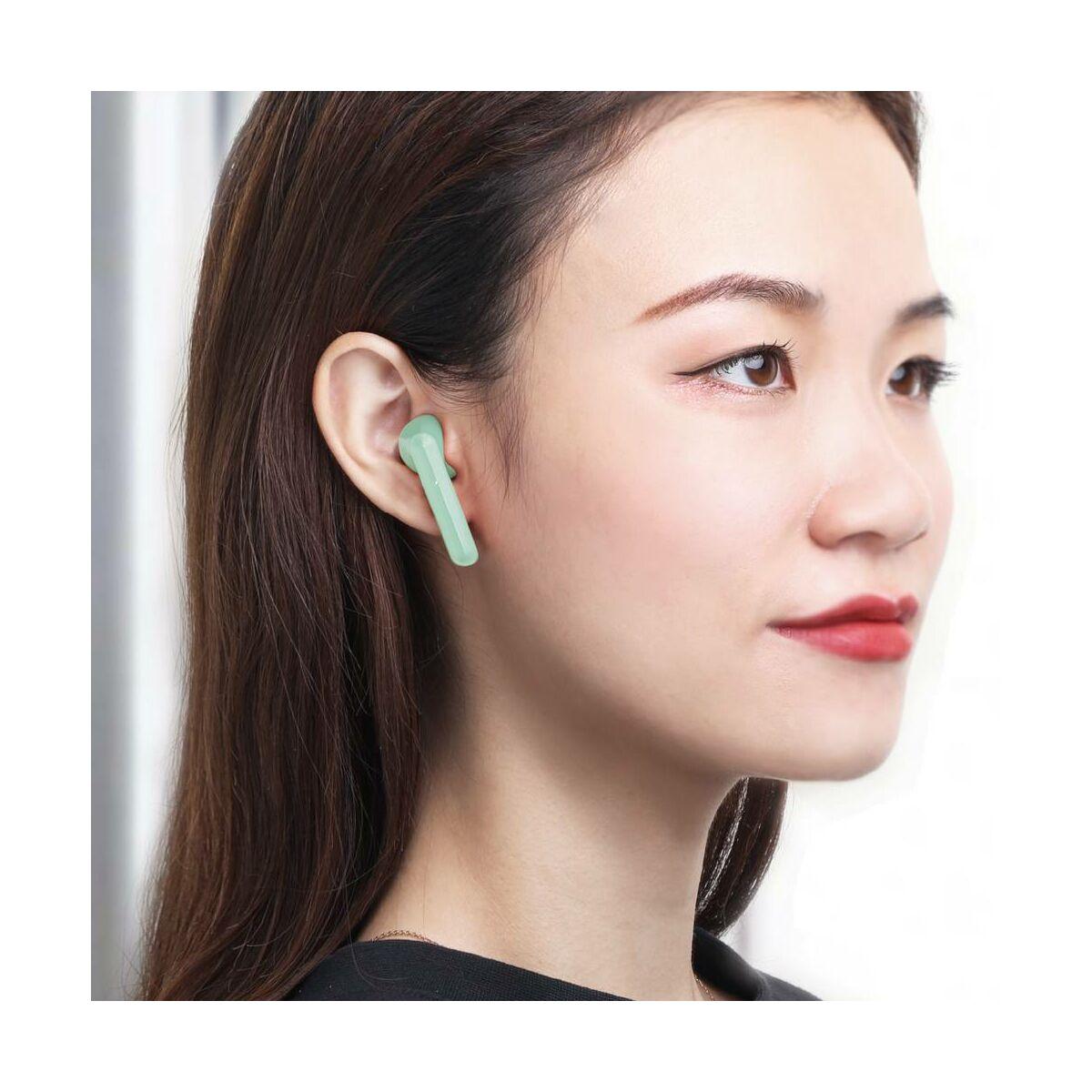 Baseus fülhallgató, Bluetooth Encok W09, True Wireless, vezeték nélküli, BT 5.0 TWS, zöld (NGW09-06)