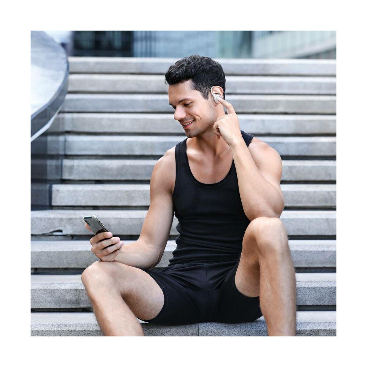 Baseus fülhallgató, Bluetooth Encok W17 True Wireless, vezeték nélküli, BT 5.0 TWS, 20-20kHz tartomány, akár 30 óra zene, fehér (NGW17-02)