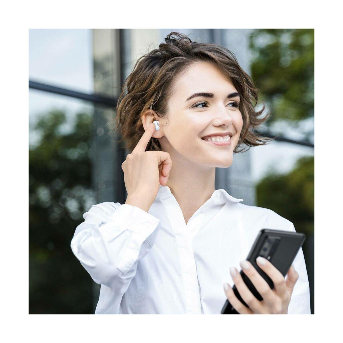 Baseus fülhallgató, Bluetooth Encok WM01 True Wireless, vezeték nélküli, BT 5.0, fehér (NGWM01-02)