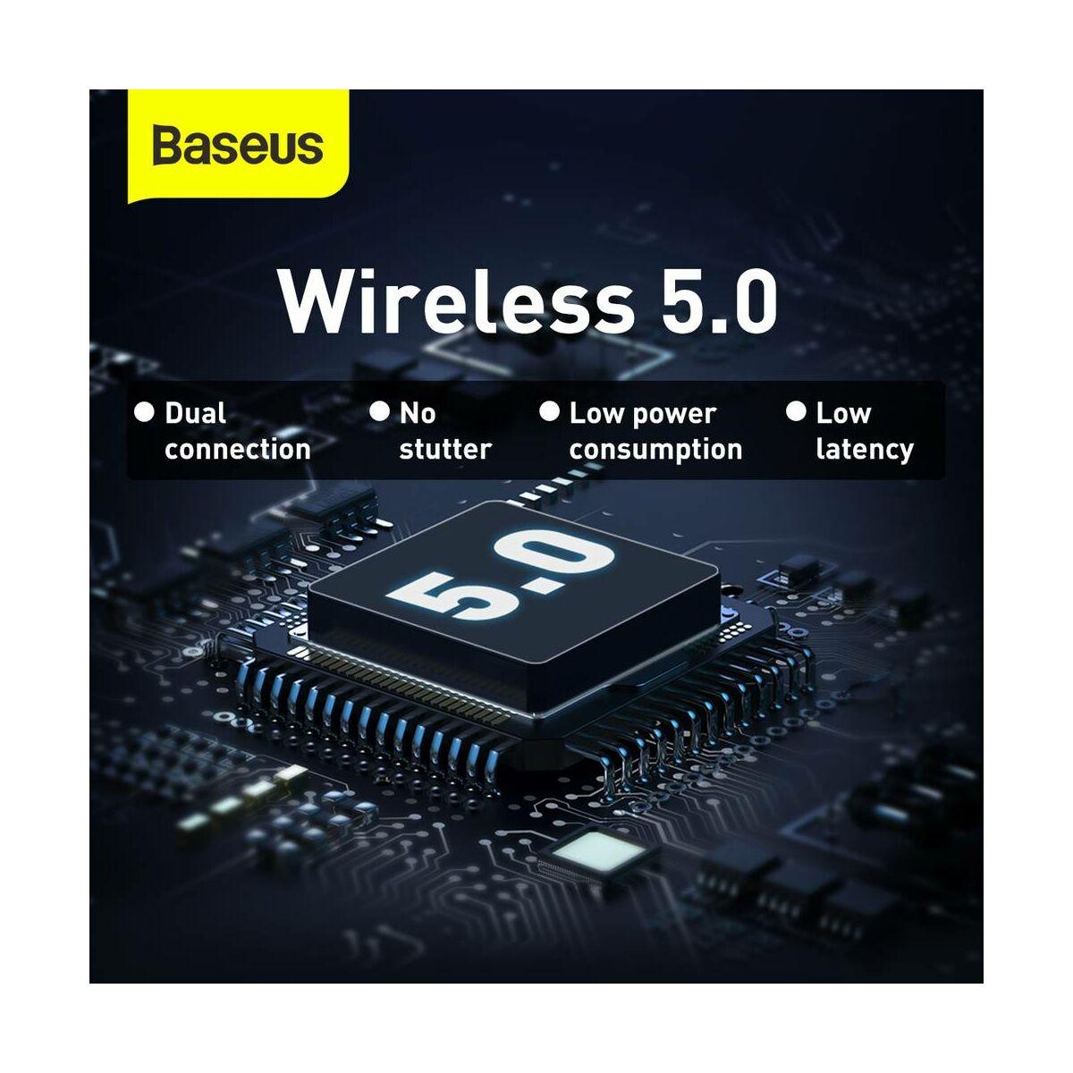 Baseus fülhallgató, Bluetooth Encok WM01 True Wireless, vezeték nélküli, BT 5.0, lila (NGWM01-05)