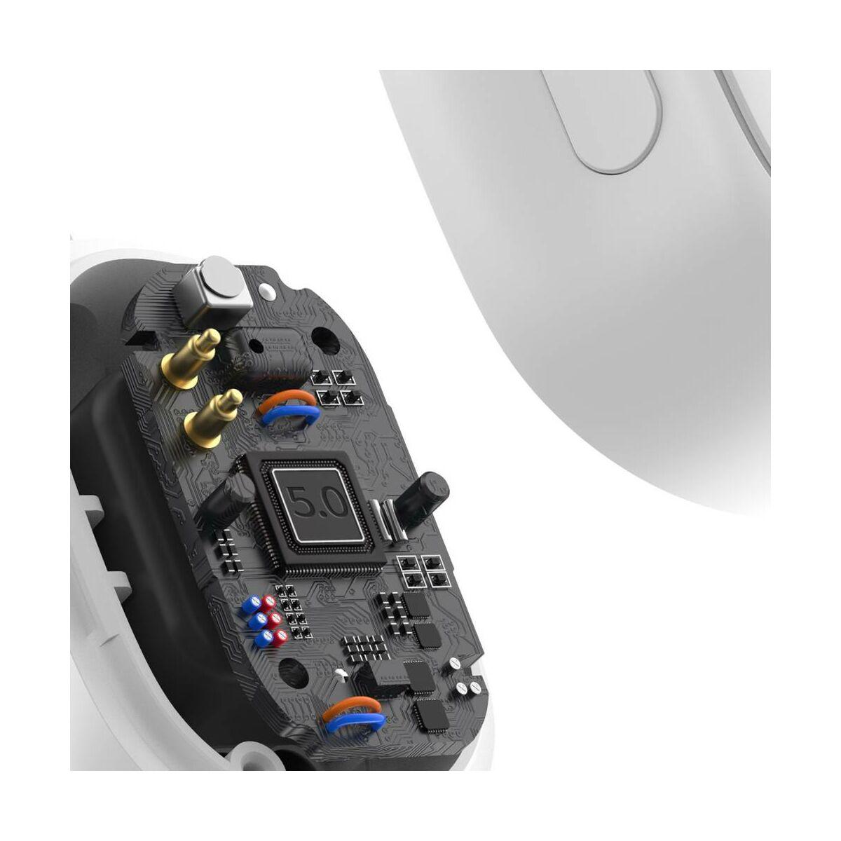 Baseus fülhallgató, Bluetooth Encok WM01 True Wireless, vezeték nélküli, BT 5.0 TWS, akár 10m kommunikációs távolság, fehér (NGWM01P-02)