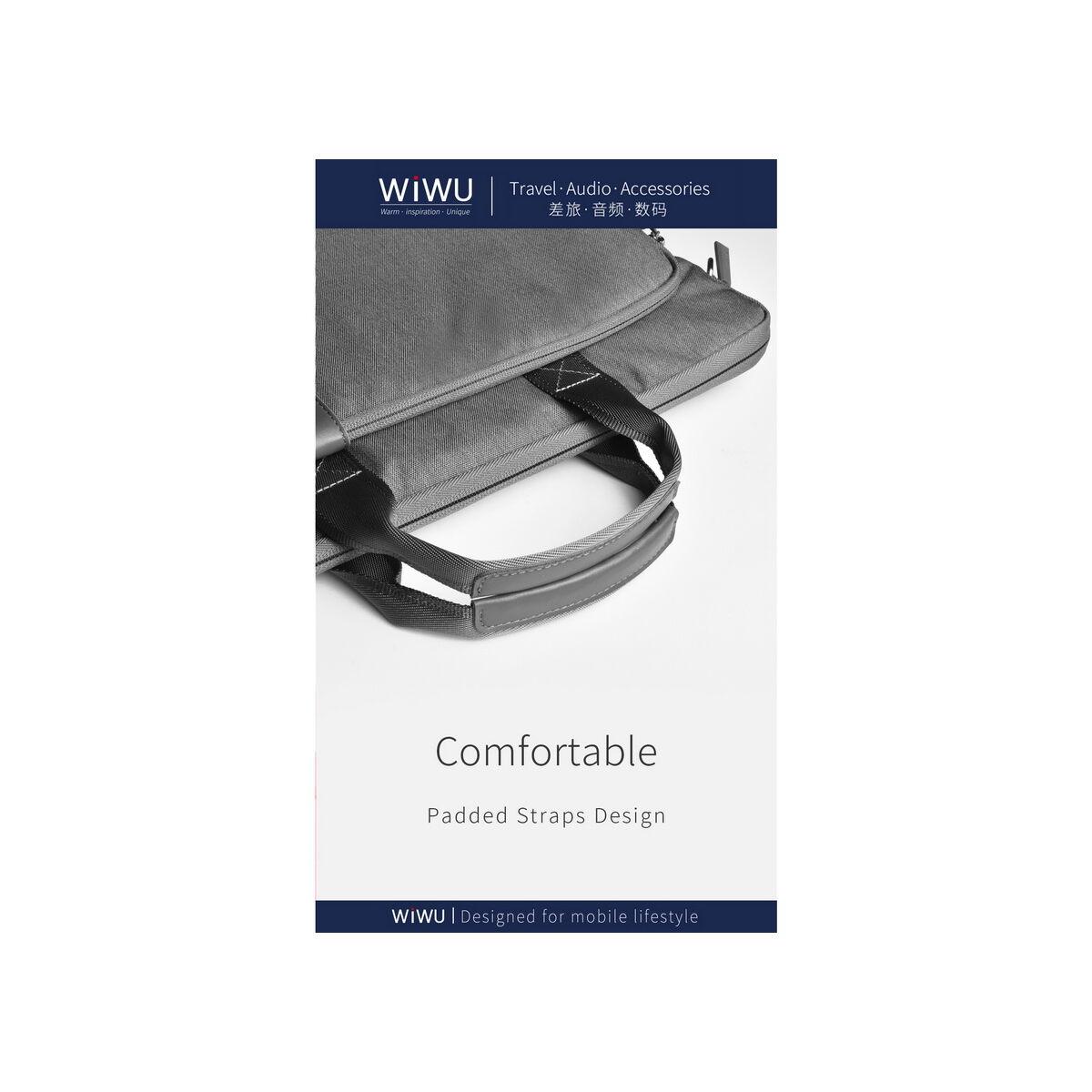 WiWU kézi táska, Decompression Laptop táska, 17.3 inch, fekete
