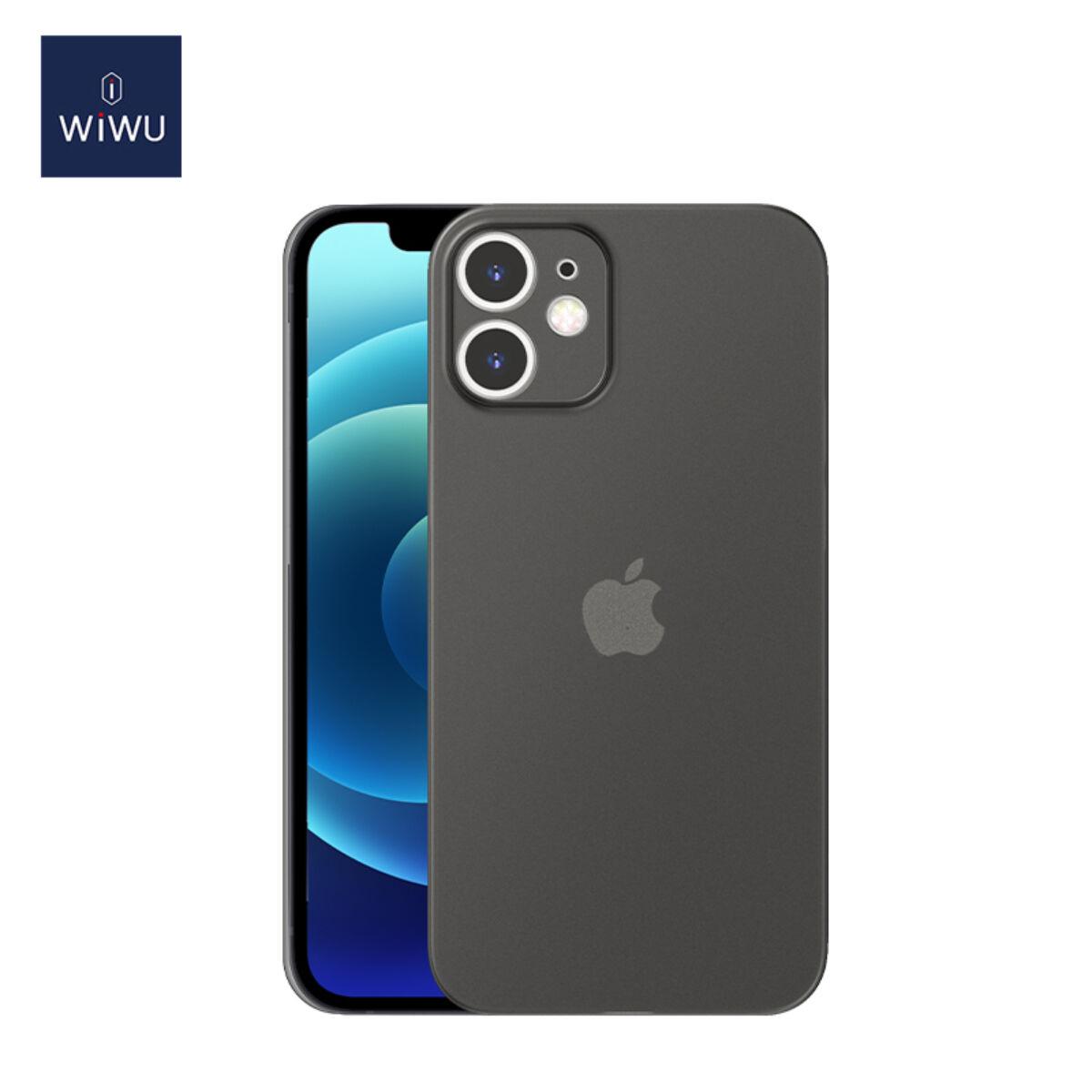 WiWU iPhone 12 mini tok, Nano Skin, fekete