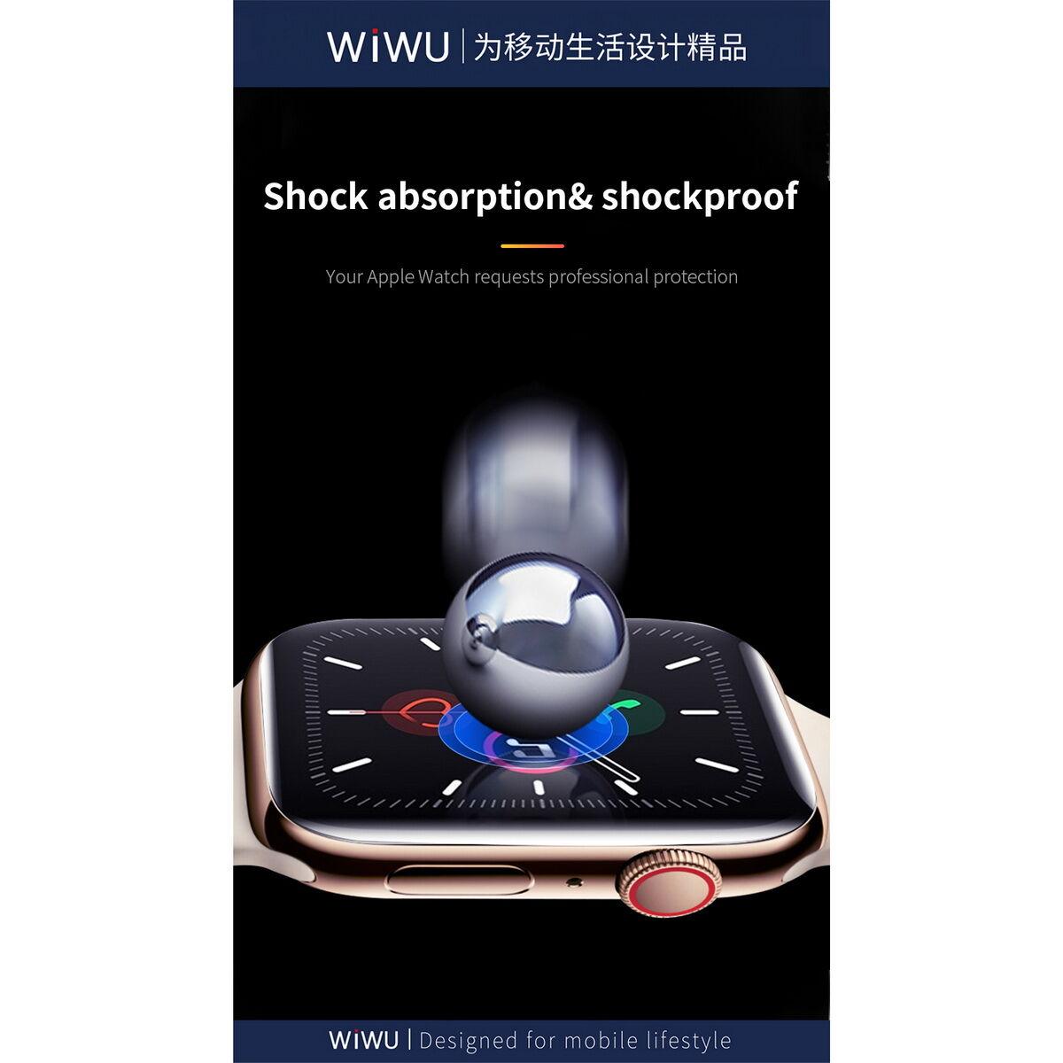 WiWU Apple Watch kijelzővédő 38 mm, átlátszó