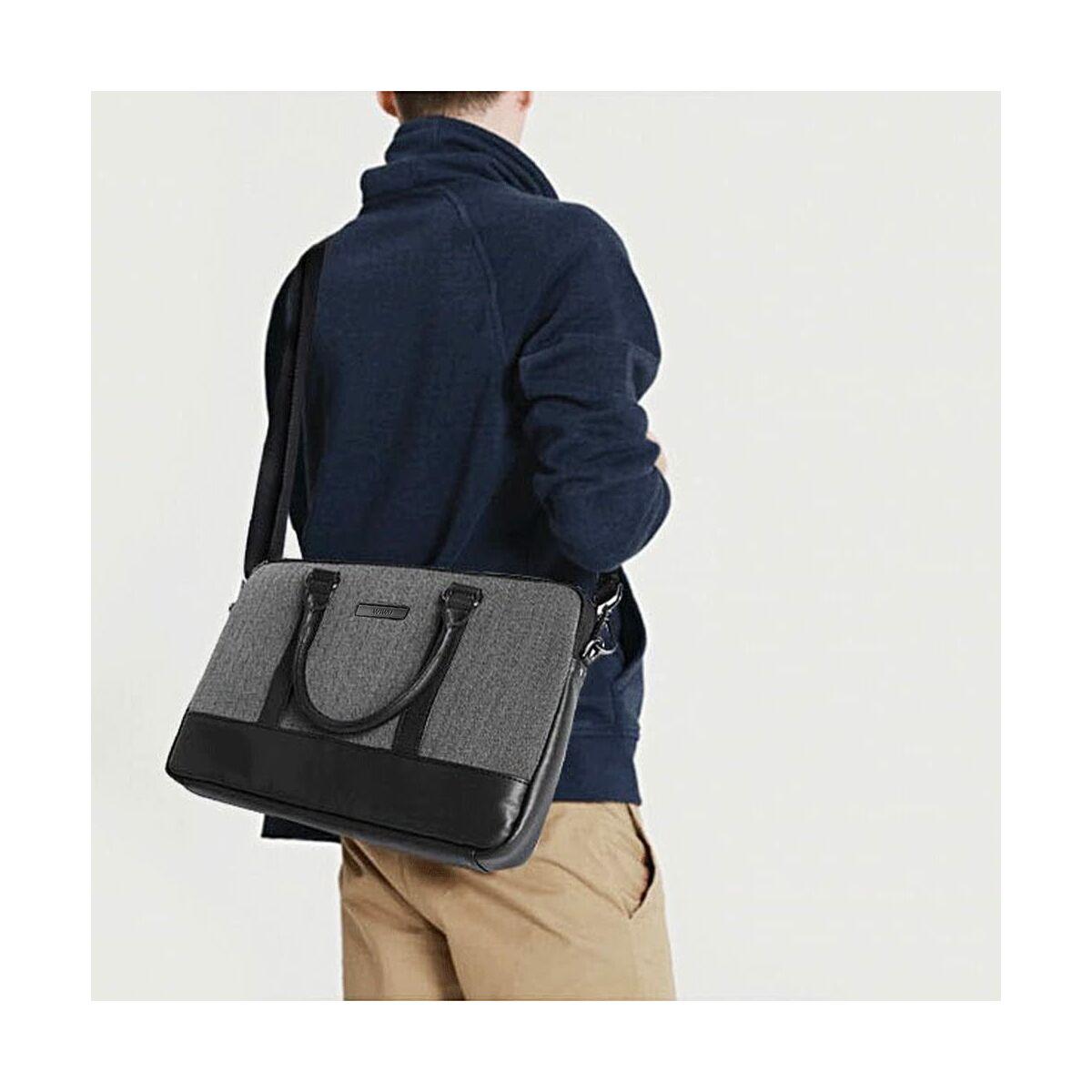 WiWU kézi táska, London aktatáska, 15.6 inch, Fekete